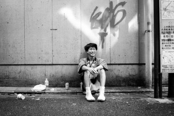 """My first friend in Tokyo was my camera. I brought it with me everywhere, with an expectation of what Tokyo """"should"""" look like: busy, stylish, high contrast, a bit blurry here and there, and monochrome."""