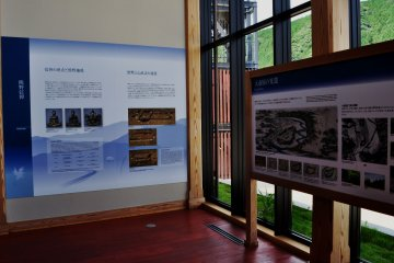 Information boards in the North Hall