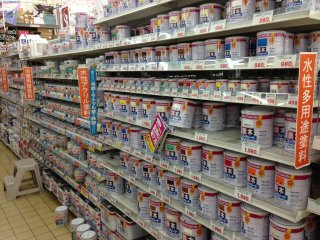 Make Man has a large selection of interior and exterior paints in dozens and dozens of different colors