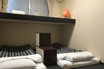 Triple rooms with traditional tatami and futons