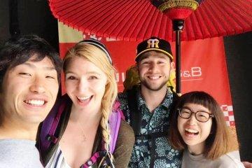 Friendly Guests and Staff at Fujitaya