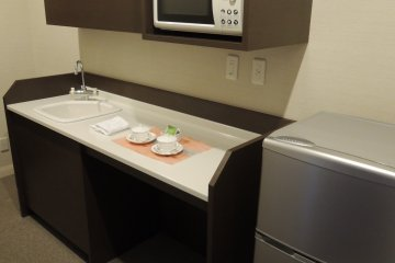 Executive Suite refrigerator and microwave