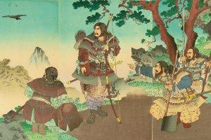 安达吟光(1891年)《神武天皇东征》大判锦绘