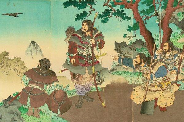 安達吟光(1891年)《神武天皇東征》大判錦繪