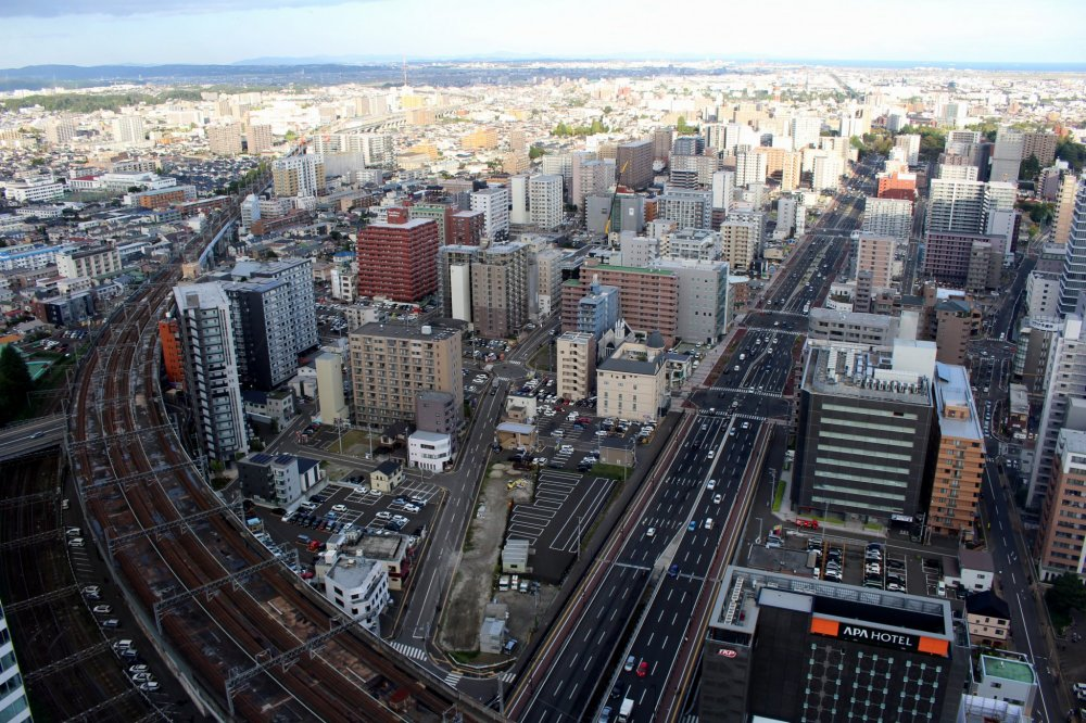 The view of west Sendai