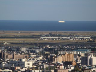 The view of the eastern part Sendai and the Ocean