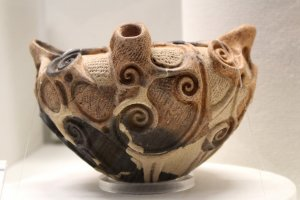 Beautifully decorated ancient pot