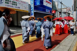 This procession, starting at 9am, departs from Tokei Jinja shrine and leads to Egawa Port.