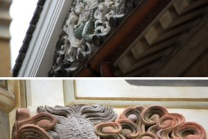 Many of the preserved buildings have beautiful details.