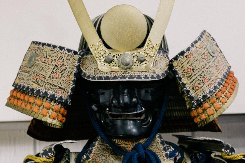 Samurai helmet and face plate