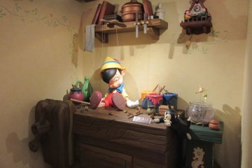 A scene from the story Pinocchio