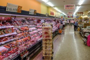 Huge range of pre-packaged meats often at discounted prices an hour before closing