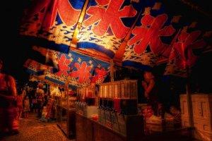 Summer festival yatai street food stalls