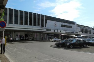 Kumagaya Station minus the festival crowds