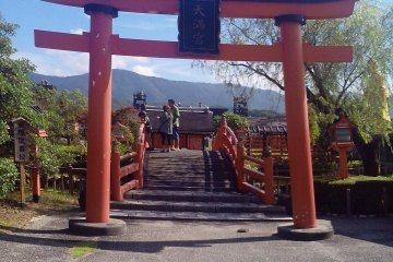 Тории к храму на территории парка