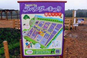 Map of the Sennen no Sono Lavender field at Ranzan Lavender Festival