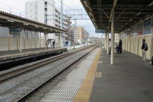 Train platforms are always clean