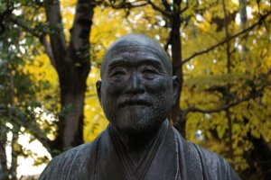 A close up of a seemingly cheerful Takahashi Korekiyo