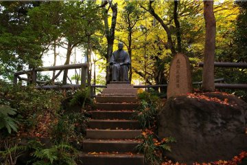 Steps leading to the statue of the late Prime Minister