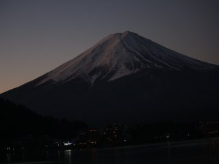 Mt. Fuji  picture before sunrise