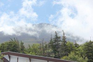 ธรรมชาติรอบภูเขาไฟฟูจิกับแสงแดดที่อบอุ่นในหน้าร้อน