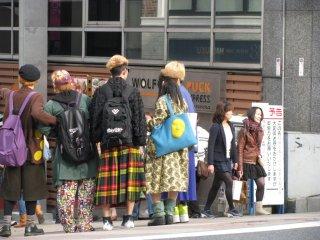 Young people on Takeshita Street