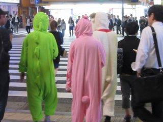 Funny characters in Akihabara