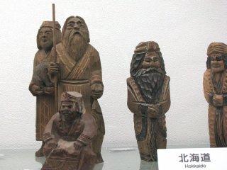 Wooden dolls from Hokkaido