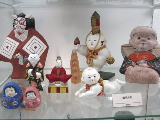 Classical 'gocho' dolls that are popular in Kyoto