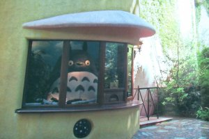 Totoro 'reception' at the Ghibli Museum