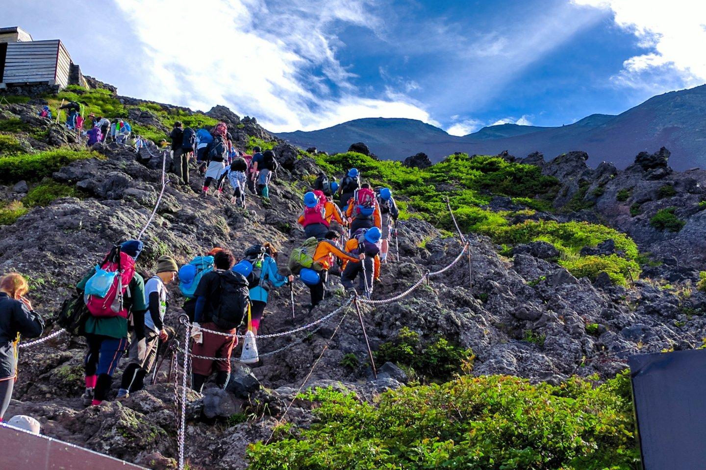 Climbing Mt Fuji