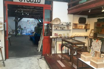 Akai Factory is art space, workshop, gallery, and store rolled in one.