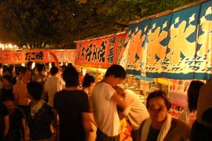 Yatai street food stalls