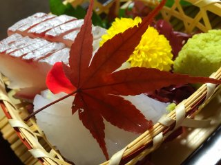 Leaves and flowers are often used as garnishes
