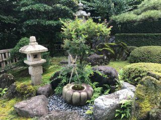 The small yet charming Japanese styled garden