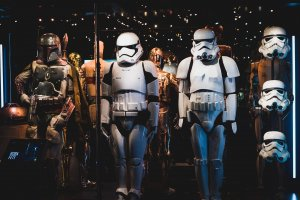 A crew of villains from the Star Wars films