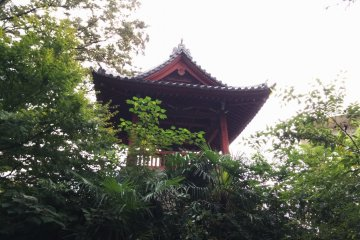 The bell tower in Ueno Park
