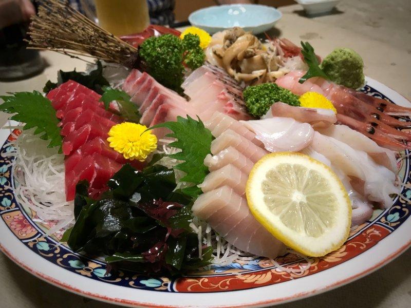 Best plate of Sashimi in Yukiguni