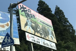 Personally, I liked the Showa-era styling of the road signs leading up to the arena