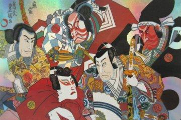 A kabuki-themed card