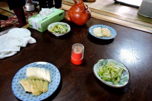 Tea and home-made pickles