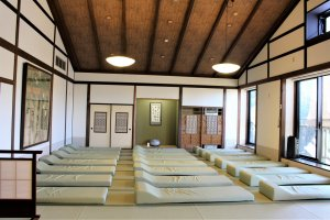 "Visitors can take a nap in the tatami-mat ""spring"" room"