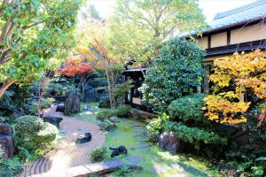 The authentic Japanaese garden depicts a treasure-hunting story