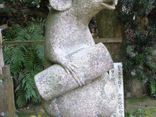 Stone sculpture of nezumi (rat) in Kyoto