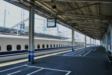 One of the platforms serving the Shinkansen line