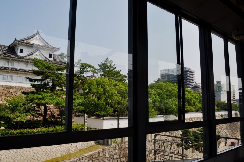 Fukuyama Castle from the Shinkansen platform