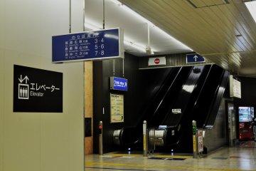 Inside the Shinkansen side of the Station.