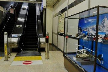 Small exhibition next to the escalators