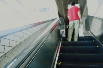 Escalators to the Shinkansen platforms