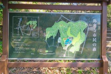 Map of Shomyoji and Hiking trails
